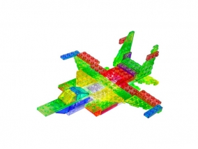Laser Pegs - Светещ конструктор Zippy Do 6 в 1 - Луксозен самолет ZD140B