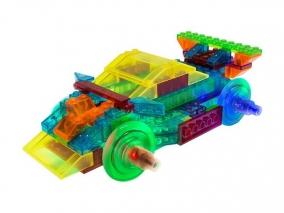 Laser Pegs - Светещ конструктор 8 в 1 - Спортна кола PB1410B