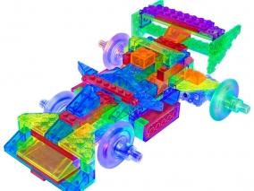 Laser Pegs - Светещ конструктор 12 в 1 - Състезателна кола PB2160B
