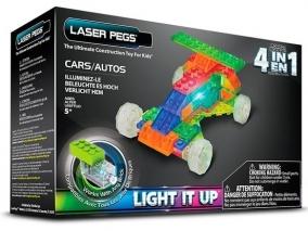 Laser Pegs - Светещ конструктор 4 в 1 - Коли MPS300B