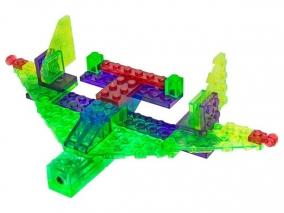 Laser Pegs - Светещ конструктор 4 в 1 - Самолетоносач MPS100B