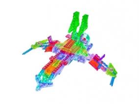 Laser Pegs - Светещ конструктор 16 в 1 - Космически кораб G9030B