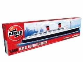 Airfix - RMS Queen Elizabeth 1 - Пътнически лайнер (1:600) 06201