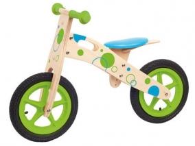 Woody - Дървено колело за баланс с надуваеми гуми 91189