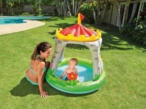 INTEX - Детски басейн със сенник Замък 757122