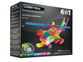 Laser Pegs - Светещ конструктор 6в1 ХЕЛИКОПТЕР ZD150B
