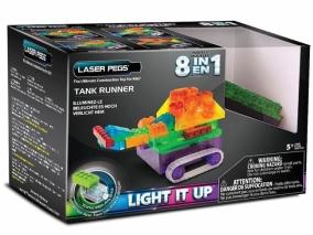 Laser Pegs - Светещ конструктор 8в1 ТАНК RN1330B
