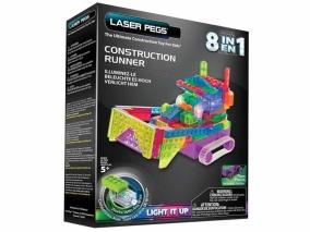 Laser Pegs - Светещ конструктор 8в1 БУЛДОЗЕР RN2170B