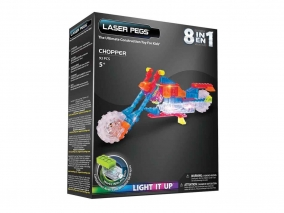 Laser Pegs - Светещ конструктор 8в1 МОТОР ZD3100B