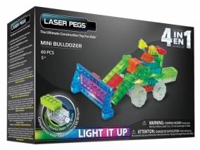 Laser Pegs - Светещ конструктор 4в1 БУЛДОЗЕР MPS700B