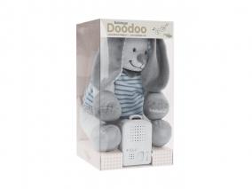 Doodoo Babiage - Плюшено зайче с успокояващ звук, сиви райета 3580018