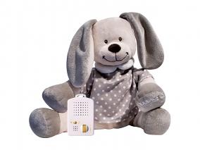 Doodoo Babiage - Плюшено зайче с успокоява 3580017щ звук, точки