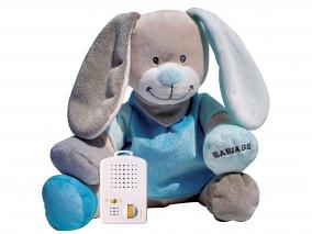 Doodoo Babiage - Плюшено зайче с успокояващ звук, тюркоаз 3580016