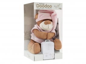 Doodoo Babiage -  Плюшено мече с успокояващ звук, розово 3580012